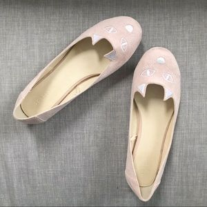 Torrid Pale Pink Cat Round Toe Ballet Flats Sz 11
